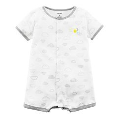 Baby Carter's 'Bright Little One' Cloud Pattern Snap-Up Romper