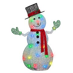 National Tree Company 50 in Light-Up Snowman Indoor / Outdoor Decor
