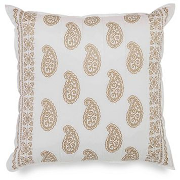 Dena Home Marielle Quilted Paisley Euro Throw Pillow
