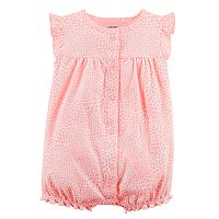 Baby Girl Carter's Heart Cat Romper