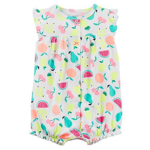 600fb1160c72 Baby Girl Carter s Fruit Shirred Romper