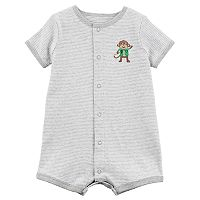 Baby Boy Carter's Striped Monkey Romper