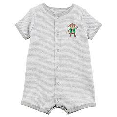 Baby Boy Carter's Striped Monkey Romper