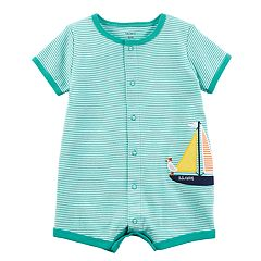 Baby Boy Carter's Striped Sailboat Romper