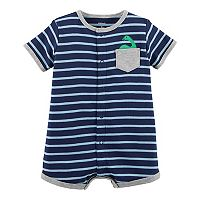 Baby Boy Carter's Striped Dino Romper