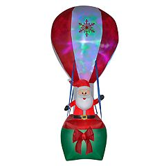 National Tree Company 144-in. Inflatable Santa Indoor / Outdoor Christmas Decor