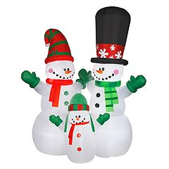National Tree Company 144 in Inflatable Snowman Family Indoor / Outdoor Christmas Decor