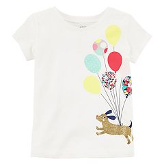 Toddler Girl Carter's Dog Balloon Graphic Tee