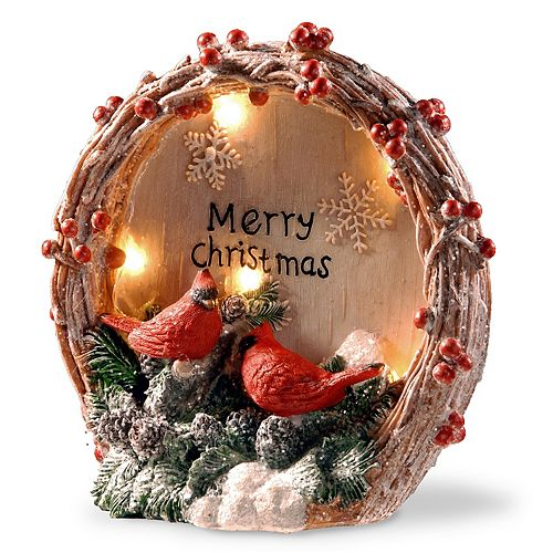 national tree company light up cardinal table christmas decor