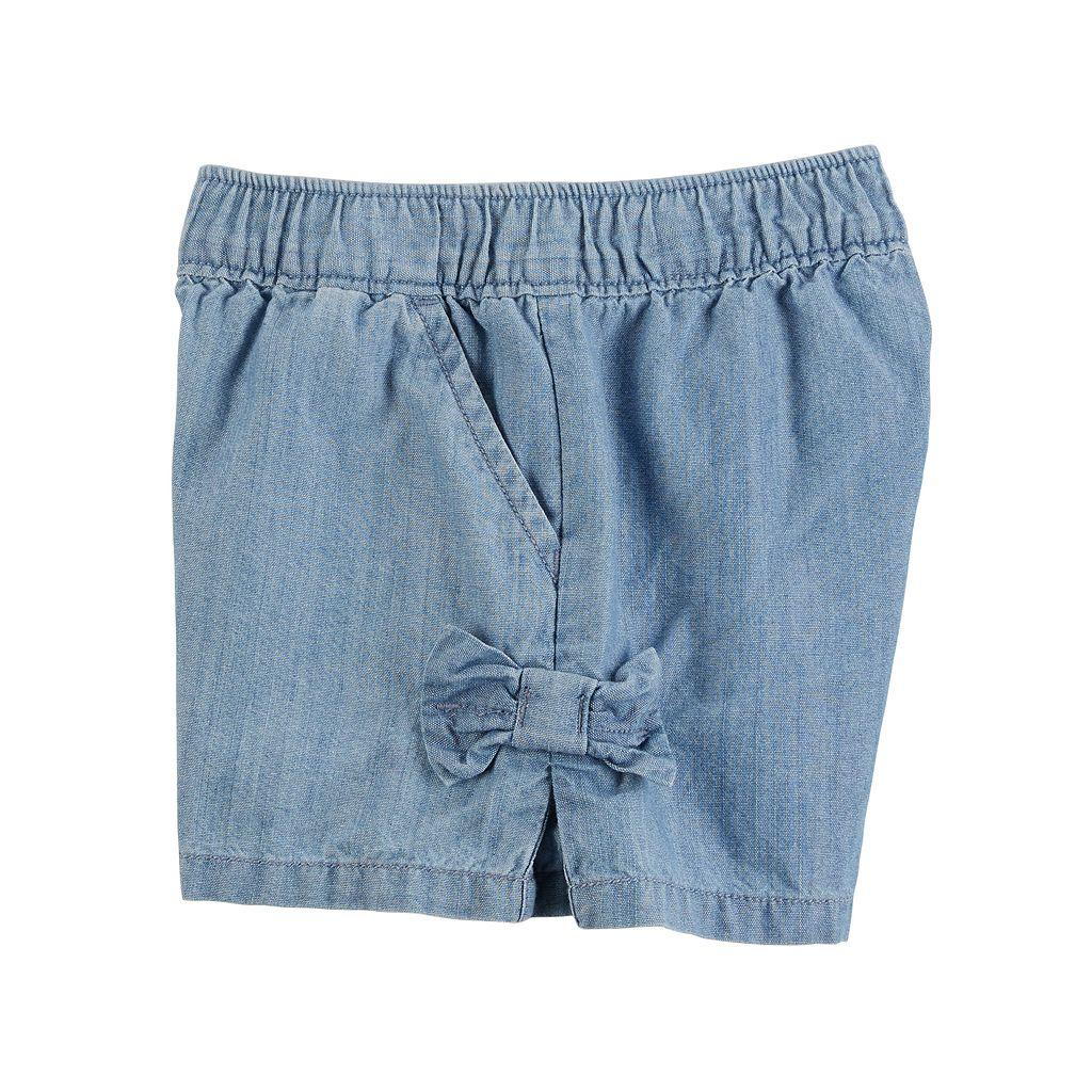 Toddler Girl Carter's Easy Pull-On Bow Shorts