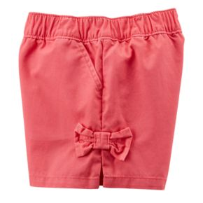 Toddler Girl Carter's Red Bow Shorts