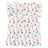 Toddler Girl Carter's Polka Dot Poplin Tee