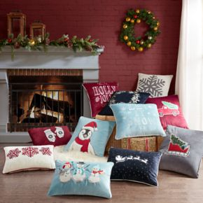 Madison Park Fluff the Holiday Penguin Throw Pillow