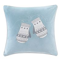 Madison Park Winter Snow Mittens Throw Pillow