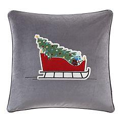 Madison Park Holiday Sleigh Ride Throw Pillow