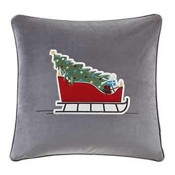 Madison Park Holiday Sleigh Ride Throw Pillow