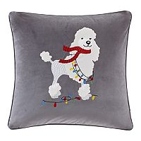 Madison Park Francy the Holiday Poodle Throw Pillow