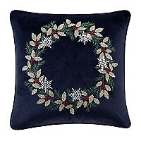 Madison Park Holiday Wreath Throw Pillow