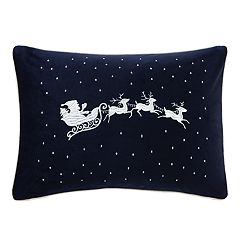 Madison Park Santa's Christmas Eve Oblong Throw Pillow