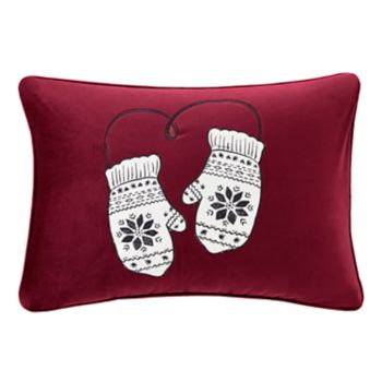 Madison Park Sweet Holiday Mittens Oblong Throw Pillow