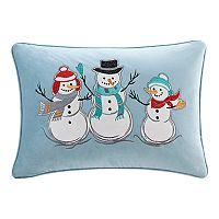 Madison Park Winter Snow Buddies Oblong Throw Pillow