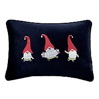 Madison Park Holiday Gnome Party Oblong Throw Pillow