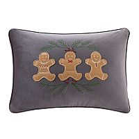 Madison Park Holiday Gingerbread Oblong Throw Pillow
