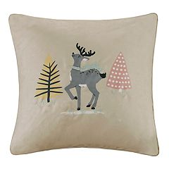 Madison Park Blu the Holiday Doe Throw Pillow