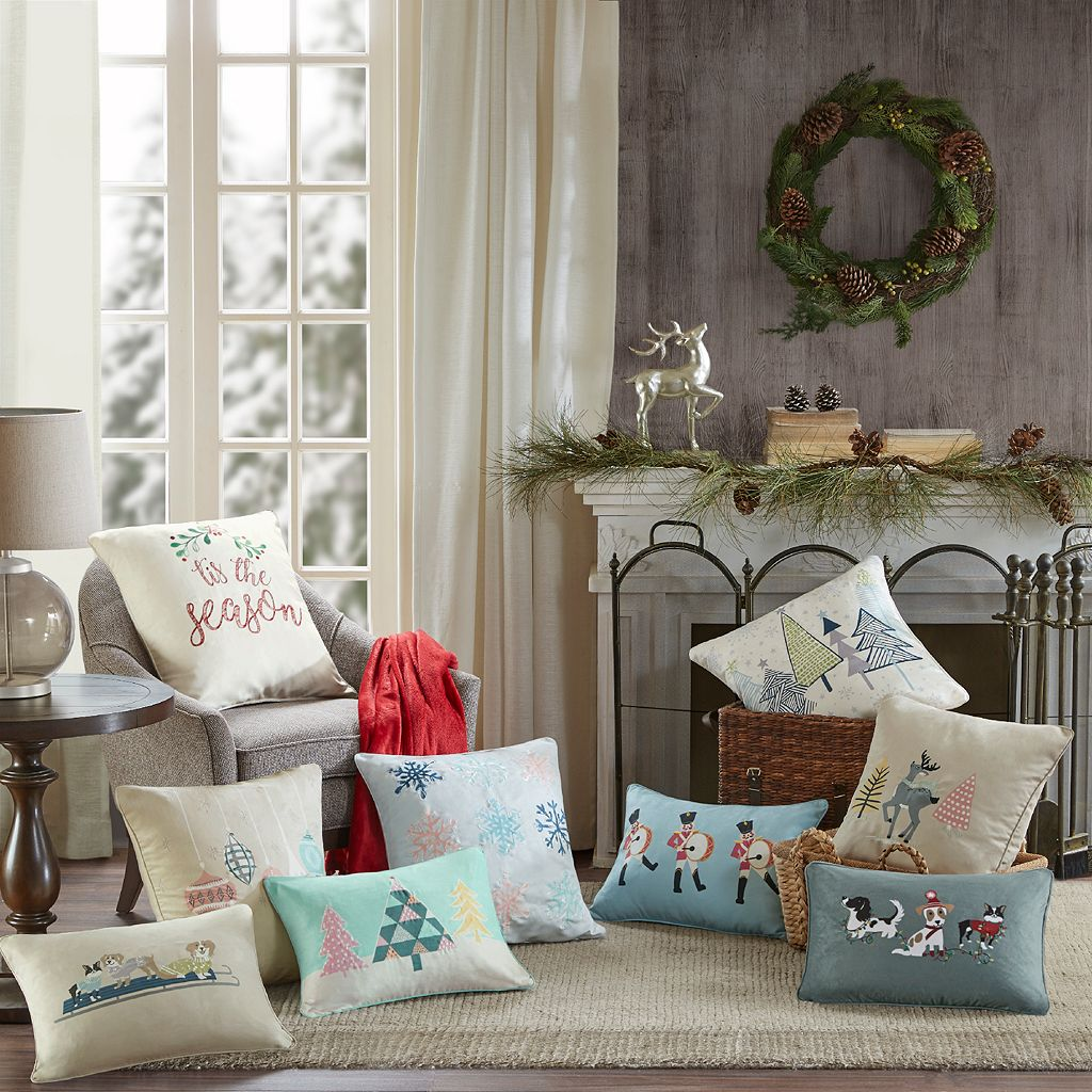 Madison Park Blu the Holiday Doe Throw Pillow
