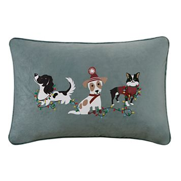 Madison Park Holiday Troublemakers Oblong Throw Pillow