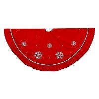 Kurt Adler Red Velvet Christmas Tree Skirt