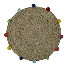 Celebrate Summer Together Natural Pom-Pom Placemat