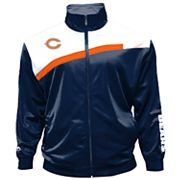 Big & Tall Majestic Chicago Bears Striped Tricot Track Jacket