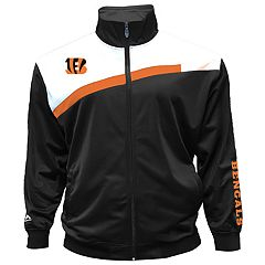 Big & Tall Majestic Cincinnati Bengals Striped Tricot Track Jacket