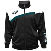 Big & Tall Majestic Philadelphia Eagles Striped Tricot Track Jacket