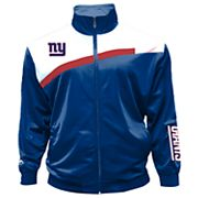 Big & Tall Majestic New York Giants Striped Tricot Track Jacket