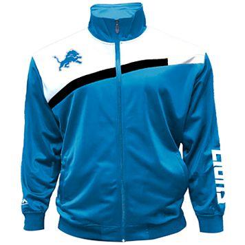 Big & Tall Majestic Detroit Lions Striped Tricot Track Jacket