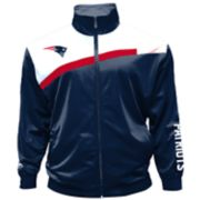 Big & Tall Majestic New England Patriots Striped Tricot Track Jacket