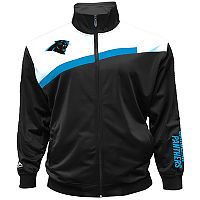 Big & Tall Majestic Carolina Panthers Striped Tricot Track Jacket
