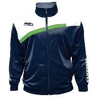 Big & Tall Majestic Seattle Seahawks Striped Tricot Track Jacket
