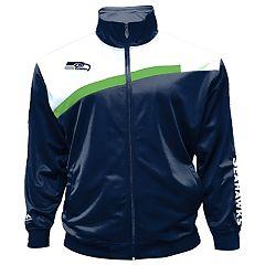 Big & Tall Majestic Seattle Seahawks Striped Tricot Track Jacket