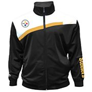Big & Tall Majestic Pittsburgh Steelers Striped Tricot Track Jacket