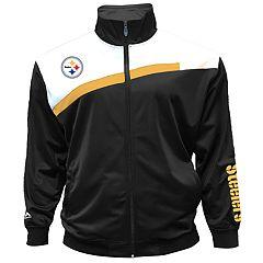 Big & Tall Majestic Pittsburgh Steelers Striped Tricot Track Jacket