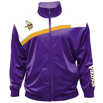 Big & Tall Majestic Minnesota Vikings Striped Tricot Track Jacket