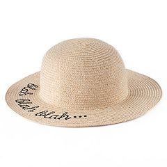Women's LC Lauren Conrad 'Blah Blah Blah' Floppy Hat