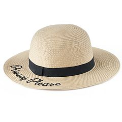 Women's LC Lauren Conrad 'Privacy Please' Straw Floppy Hat