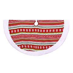 Kurt Adler Fairisle Knit Christmas Tree Skirt