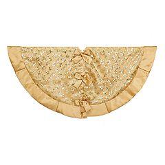 kurt adler gold sequin christmas tree skirt - Gold Christmas Tree Skirt