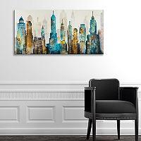 Artissimo Designs City Sky Canvas Wall Art