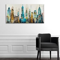Artissimo Designs City Sky Canvas Wall Art